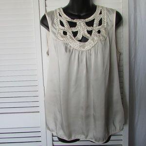 Studio M cream blouse large
